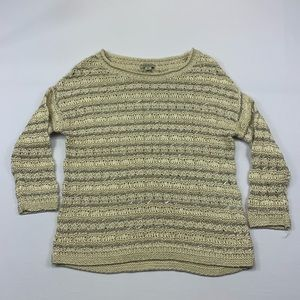 Lucky Brand Sweater Metallic Shiny Pullover